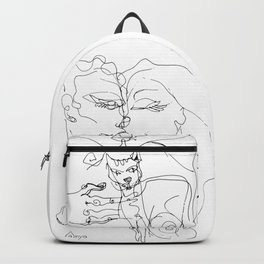 Couple with cat Backpack