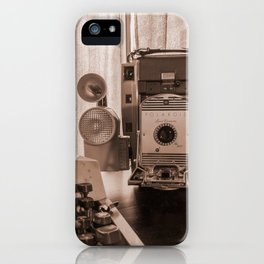 Polaroid antique flavor (sepia) iPhone Case