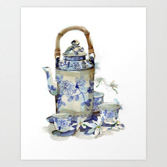 Jasmine tea Art Print