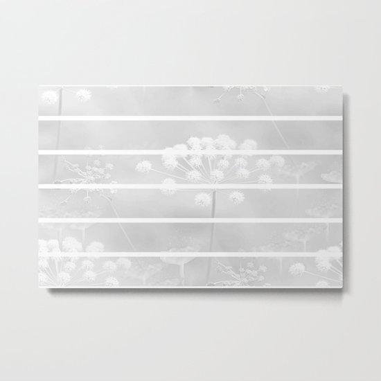 Grey And White Metal Print
