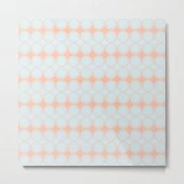 Pastel Pattern Dots and Gradient Baby Blue and Peach Orange Metal Print