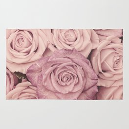 Some People Grumble - Pink Rose Pattern - Roses Rug