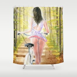 Miss Natural Shower Curtain