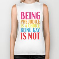 pride and prejudice Biker Tanks featuring Being Prejudice... by MaNia Creations