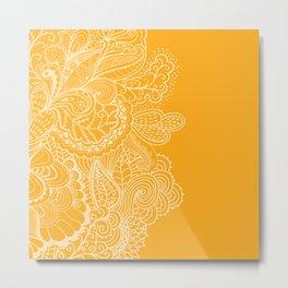 Marigold Mehndi Metal Print