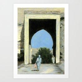 Medina Gate, Meknes, Morocco Art Print