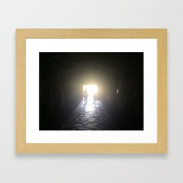 Path to discover new places Framed Art Print