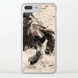 Hanging On - Bronco Busting Champ Clear iPhone Case