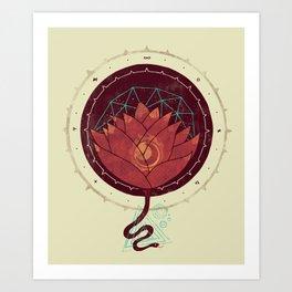 Red Lotus Art Print