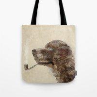 labrador Tote Bags featuring hello labrador by bri.buckley