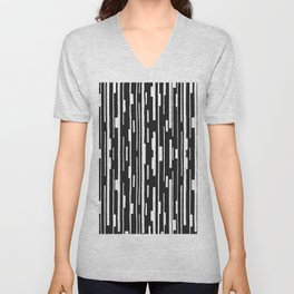 Abstract Code Unisex V-Neck