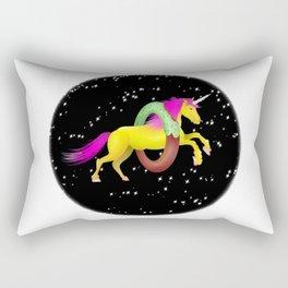 Unicorn Space Donut Rectangular Pillow