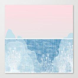 Pastel Sea Landscape Design Canvas Print
