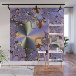 Metallic Shine with Fractals Wall Mural