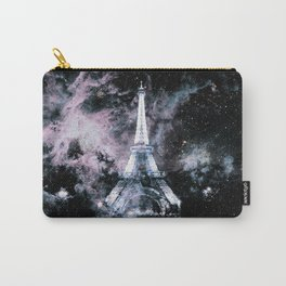 Paris Dreams Pale Pink & Blue Galaxy Carry-All Pouch