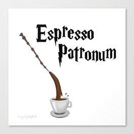 Espresso Patronum design Canvas Print