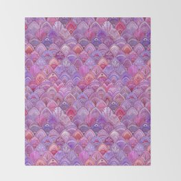 Mermaid Scales - Purple Throw Blanket