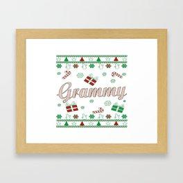 Grammy Christmas Framed Art Print