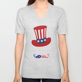 4th July Independence Day Clothes and Decorations Unisex V-Neck