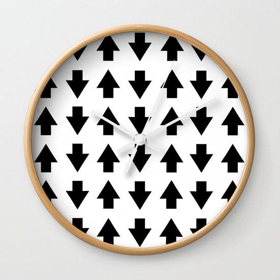 Arrows Black Wall Clock