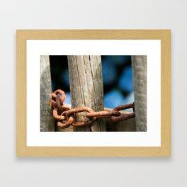 Rusty chain Framed Art Print