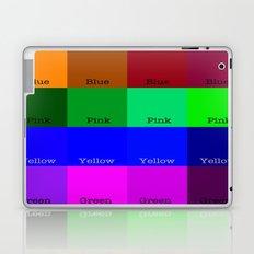 Blue, Pink, Yellow, Green  Laptop & iPad Skin