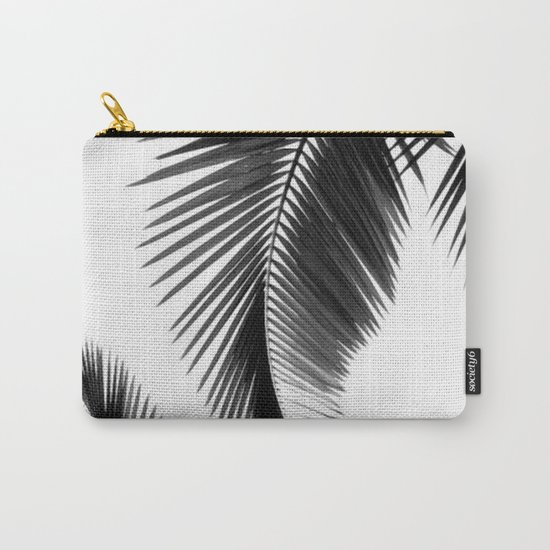 Black and white Leafs Carry-All Pouch