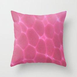 Pink Foam Plastic Surface Throw Pillow