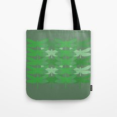 green dragonflies Tote Bag