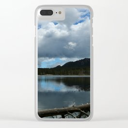 Sprague Lake Cloud Reflection Clear iPhone Case