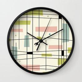 Mid Century Art Bauhaus Style Pastel Wall Clock