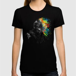 Indian Silhouette With Colorful Headdress T-shirt