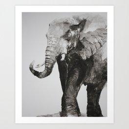 Marching Elephant Art Print