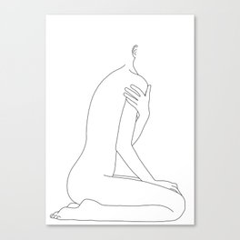 Nude life drawing figure - Cherie Canvas Print