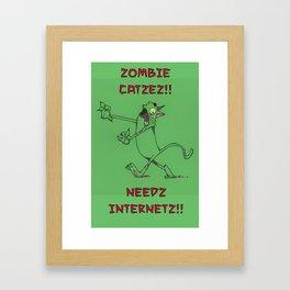 Zombie Catzez Framed Art Print
