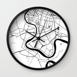 Bangkok Thailand Minimal Street Map Wall Clock