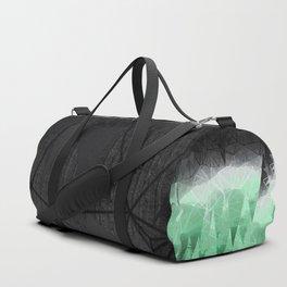 Modern Abstract Green Mountain Design Duffle Bag