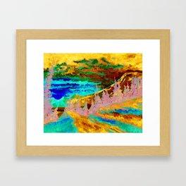 Mountain Sunset Artist Print from an Original Oil Painting Framed Art Print