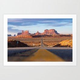 Monument Valley Desert Road Valley Drive Highway Route Arizona-Utah border Photograph Art Print