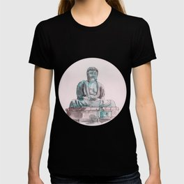 Peace and Harmony watercolor buddha pastel illustration T-shirt