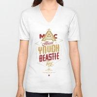 beastie boys V-neck T-shirts featuring ∞ Adam Yauch • No way! I'm a Beastie Boy ∞ by Fabio Persico