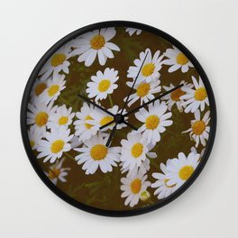 You loved me and you loved me not - White Daisies  Wall Clock