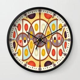 Wavy geometric abstract Wall Clock