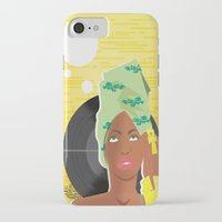 erykah badu iPhone & iPod Cases featuring Erykah by The_Section