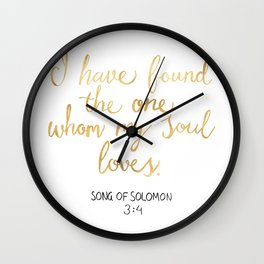 Song of Solomon 3:4 - Customer Request Wall Clock
