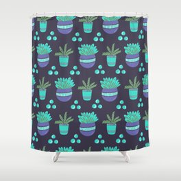 Potted Plants Pattern Shower Curtain