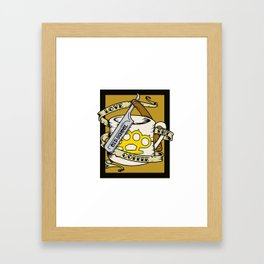 Old School Coffee and Razor Framed Art Print