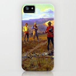 """""""Whiskey Smugglers"""" by Charles M Russell iPhone Case"""