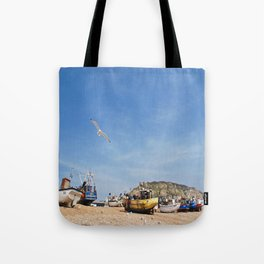 Working Beach Tote Bag