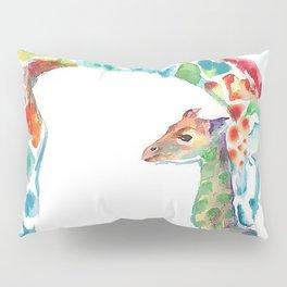 Mummy and Baby Giraffe College Dorm Decor Pillow Sham